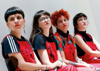"Dafne Valdes, Sibila Sotomayor, Lea Caceres and Paula Cometa of the feminist collective named Las Tesis,  composers of the performance ""Un violador en tu camino"", (""A rapist in your path"") take part in a feminist meeting at Valparaiso, Chile  December 11, 2019. REUTERS/Rodrigo Garrido     TPX IMAGES OF THE DAY"